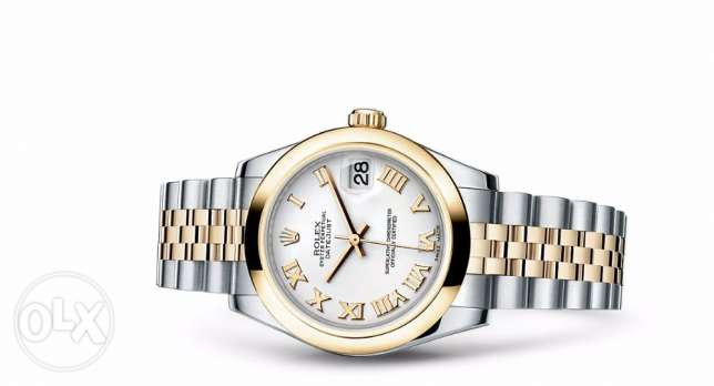 ROLEX Datejust two-tome mother of pearl Roman dial Jubilee bracelet