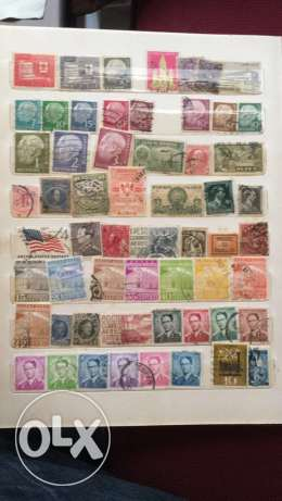 20 Pages of Old Stamps راس  بيروت -  5