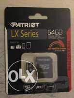 Patriot LX Series 64Gb class 10 micro sd xc