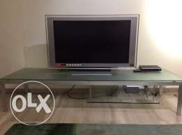 TV with console table