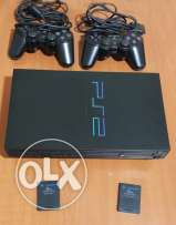 Ps2 Original M3adleh With 2 joysticks, 2 memory cards, 40 dvd