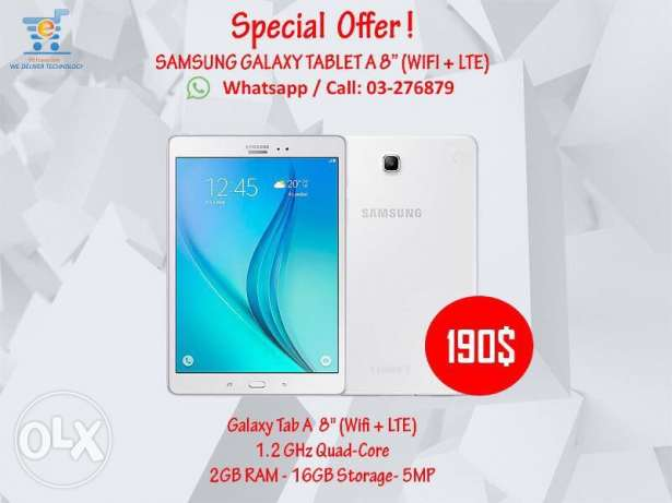 Samsung Tab A 8 inch with SIM card special offer 190$