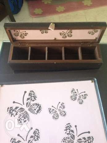 Tea box and tray
