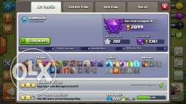 clash of clans and boom beach account for sale
