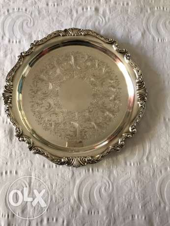 Silver plated serving plate for sale