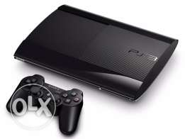 ps3 super slim 500gb rarely used with 8 games and 3 controllers