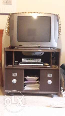 TV with its stand in good condition