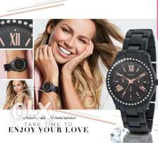 Avon new black metal watch