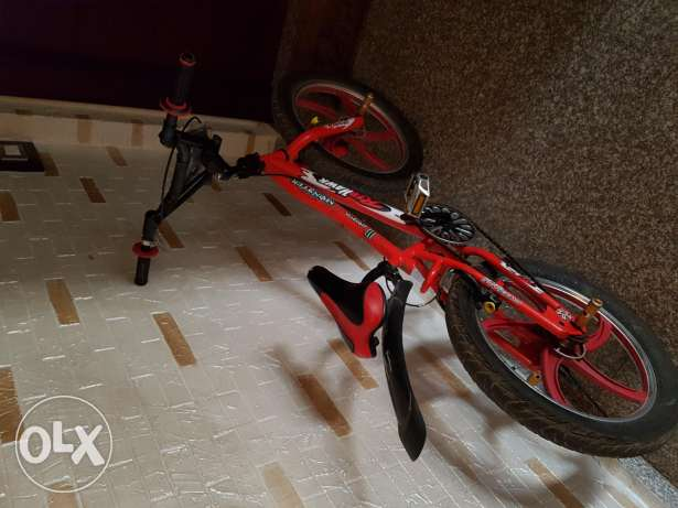Red hawk bicycle