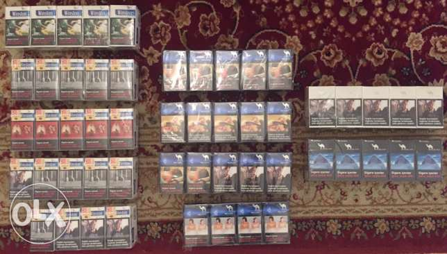 110 Special Turkish cigarette boxes...NOT found in the Lebanese Market