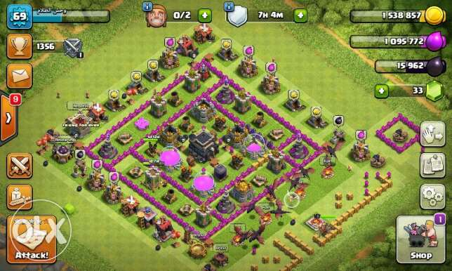 Clash of clans town hall 9