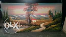 Amazing oil painting on wood 122/ 61 cm