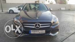 Mercedes C180/2016Gray on Black (مصدر الشركه) fully Loaded,panoramic