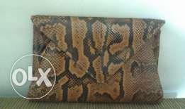 Original snake leather handbag*