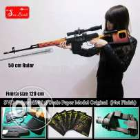 Original Scale 1:1 SVD Sniper Rifle 3D Paper models DIY Dragunov model