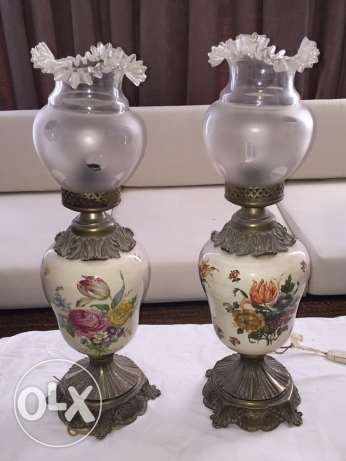 Two pairs of Antique Lamps 1910s