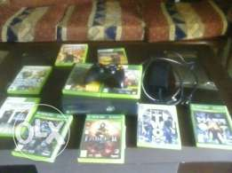 xbox with 17 game with 1 console