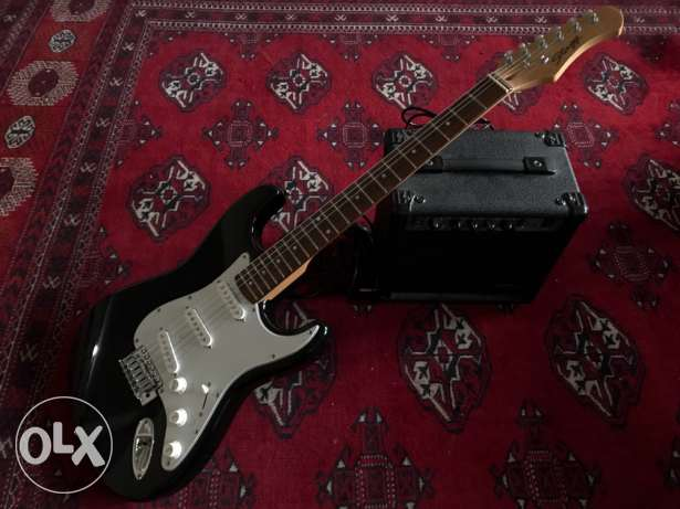 Stagg electric guitar with amplifier