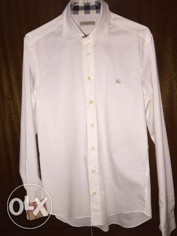 Burberry Classic White Men Long Sleeves Shirt المتن -  1