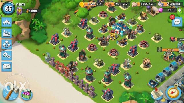 boom beach level 65 every thing max rank 1000