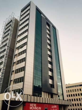 High standards, fire rated, fifteen storey building offering offices and shops. ضبيه -  4