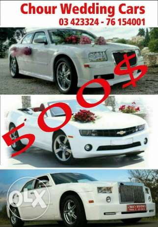 Wedding cars for rent.