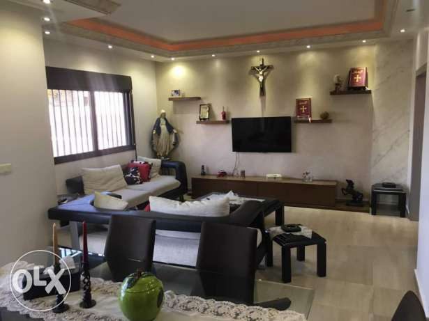 Fully decorated apartment 120sqm for sale beit chaar $180000