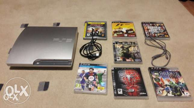 PS3 in good condition + 7 games