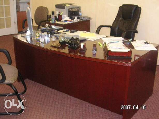office desk + console with drawers for sale