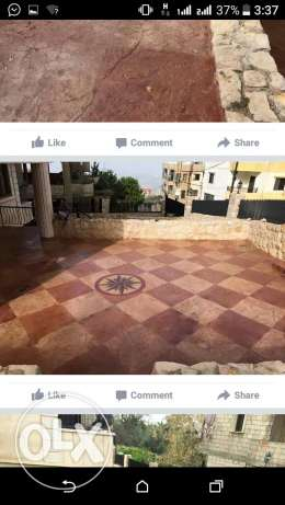 Garden decoration and stamped concrete عاليه -  4
