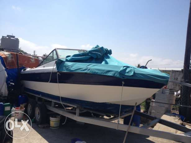 pleasure craft with trailer in good condition for sale at low price