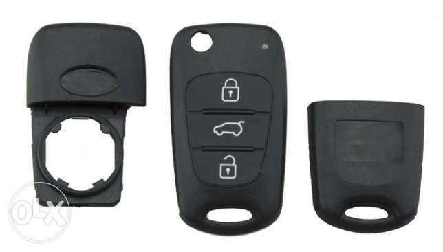 Car Key Shell Replacement 3 Buttons For Kia Rio Sportage