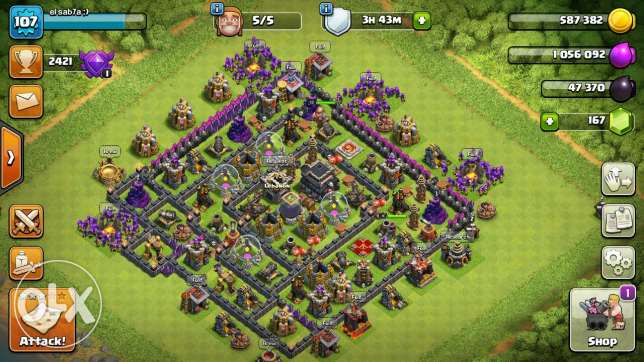 Clash of clans th lvl 9 max