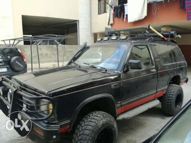 Blazer lifted for offroad