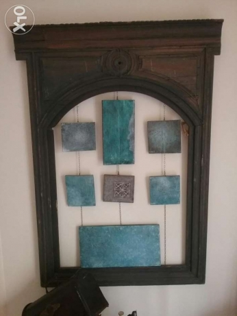 Wooden frame oriental antique.