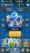 clash royal account lvl 9 with 3 legendary