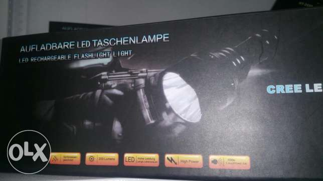 Cree Led high Power Flash Light 500m with Charger from germany بنت جبيل -  1