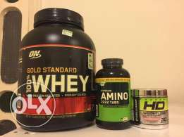 Gold standard whey+amino 2222 tabs never opened+Super hd weight loss
