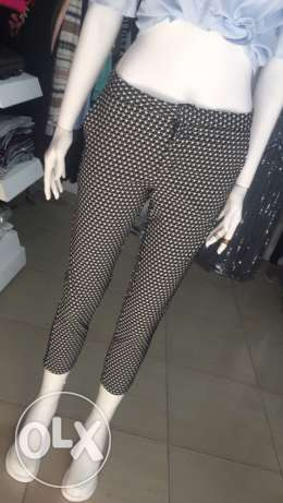classic pant black and white