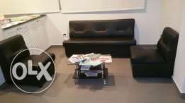 10 black leather 1 seat furniture