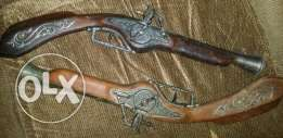 Antique rifles for wall hanging