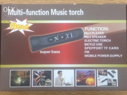 Multi-function music torch with power bank