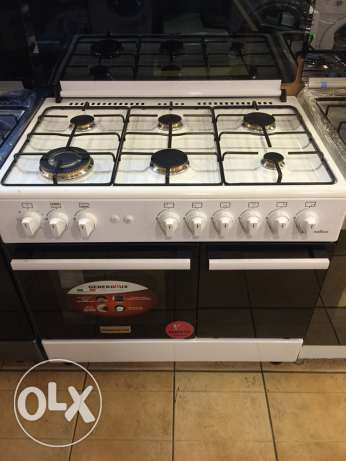 gas oven 6 eyes (new in box) سوديكو -  1