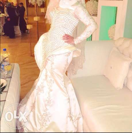 wedding dress for sall hand made imported from turkie