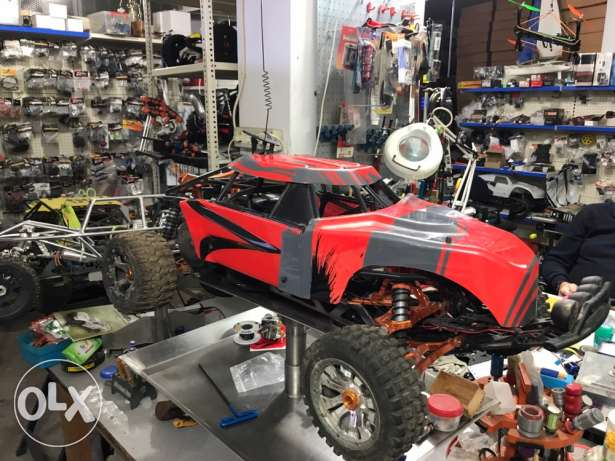 Baja rc full aluminum with protective cage full options