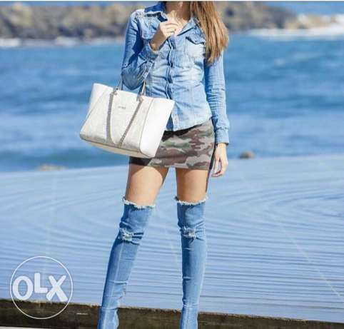 Jeans high boots Denim style all sizes available