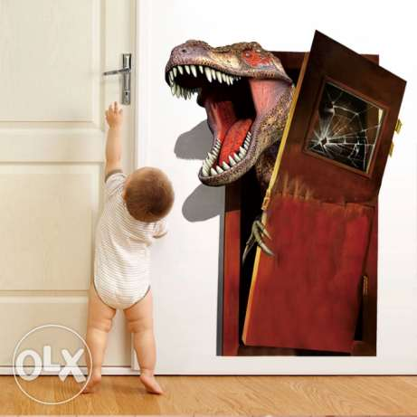 Jurassic Park Dinosaur Broken Door Wall wallpaper