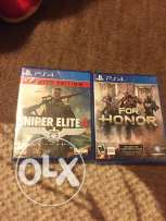 For honor and sniper elite 4 for sale new not used