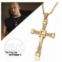 Toretto cross necklace gold and silver