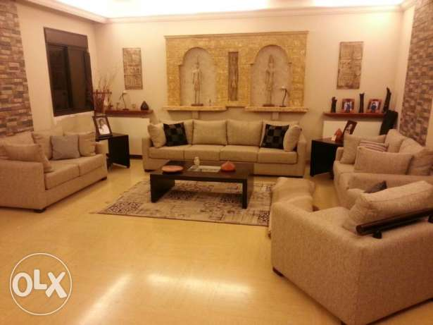 beautiful apartment 200m in mansourieh with sea & mountain view